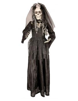 Skelet Zwarte Bruid 90cm | Halloweendecoratie