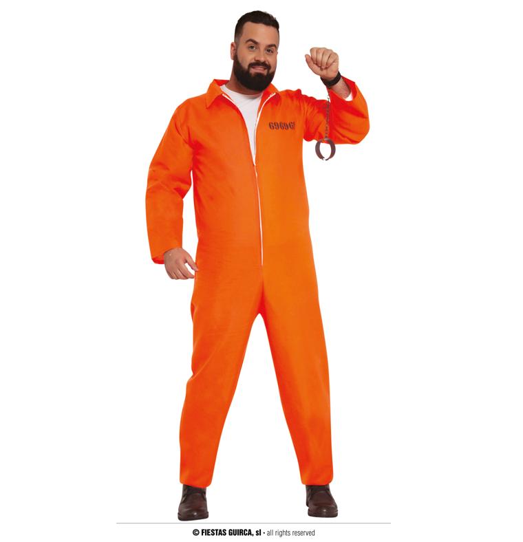 Prisoner gevangenen Kostuum   Oranje
