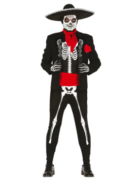 Mexican Skeleton Kostuum | Halloween  Los Muertos