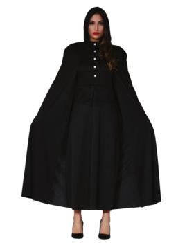 Zwarte Priestess/ Non Kostuum | Cape