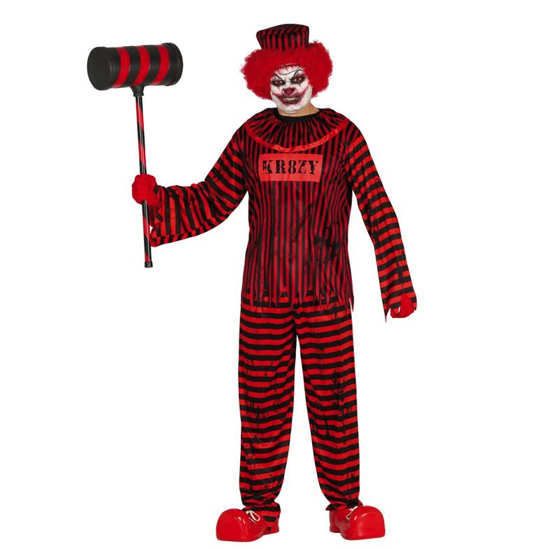 Psycho Horrorclown Heren Kostuum | Halloween