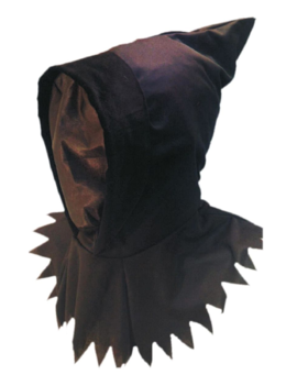 Ghoul Black/Zwart Masker   Halloween
