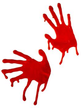 Bloody Slijmhanden Raamstickers | Halloween