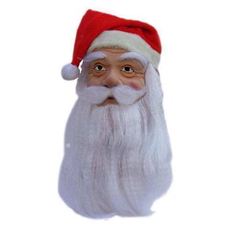 Kerstman Masker | Baard en Snor + Kerstmuts