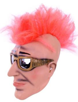 Masker Punk Rocker  Roze Hanenkam