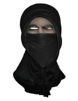 Ninja Masker Zwart | Rubber met Stof