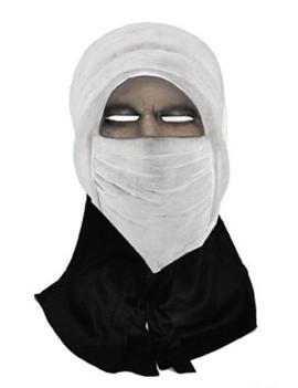 Ninja Masker Wit | Rubber met Stof