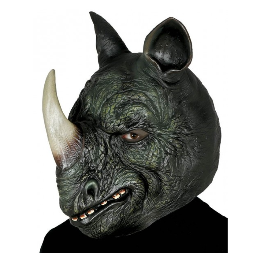 Neushoorn  Dieren Masker | Rubber