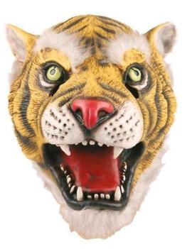 Tijger Dieren Masker | Rubber