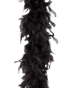 Feather Boa | Zwart 50gram