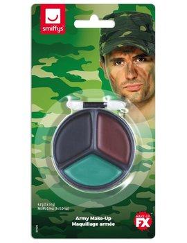 Aquaschmink Camouflage Leger Schminkset | 3 Kleuren + Kwastje