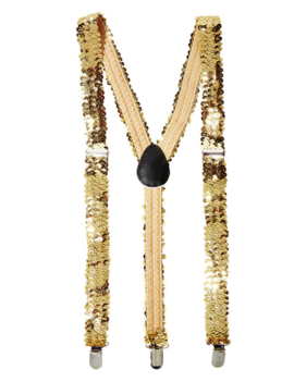 Glamour Paillet Bretellen Goud| One Size