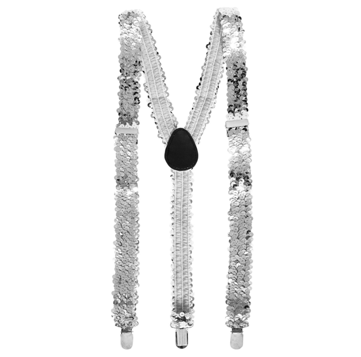 Glamour Paillet Bretellen Zilver | One Size