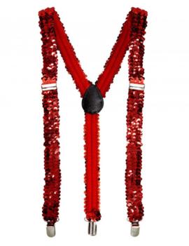 Glamour Paillet Bretellen Rood | One Size
