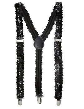 Glamour Paillet Bretellen Zwart | One Size