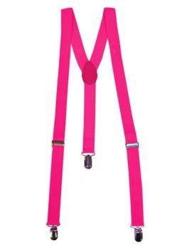 Fluo / Neon Roze Bretellen | One Size