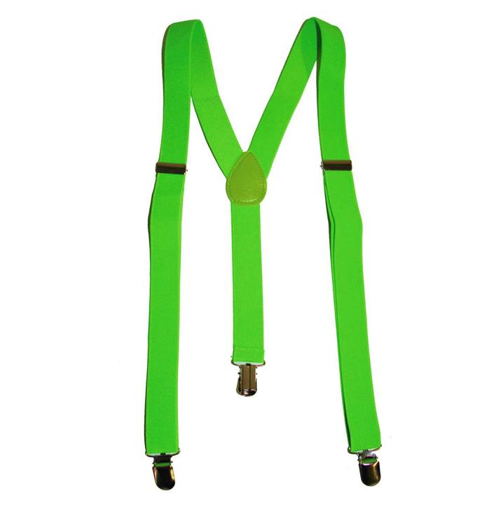 Fluo / Neon Groen Bretellen | One Size