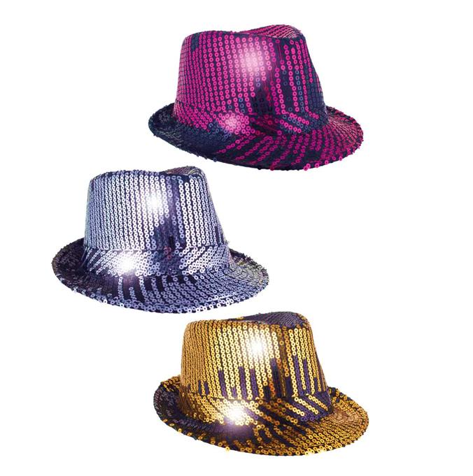 Glitterhoed Paillet Al Capone | Goud
