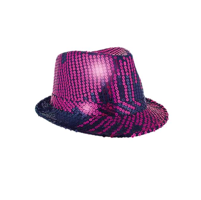 Glitterhoed Paillet Al Capone | Paars