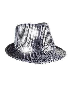 Glitterhoed Paillet Al Capone | Zilver