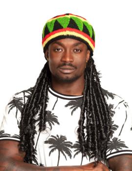 Bob Marley Baret + Pruik Jamaica