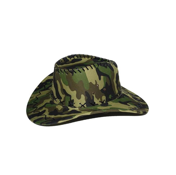 Camouflage Leger Hoed