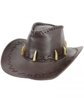 Cowboyhoed Jurrasic  | Bruin Nep Leder