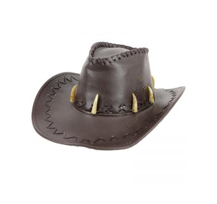 Cowboyhoed Jurrasic    Bruin Nep Leder