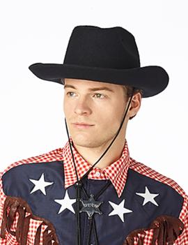 Cowboyhoed Zwart | Vilt