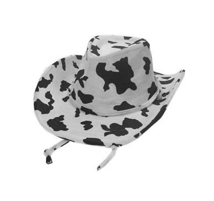 Cowboyhoed Koeienprint   Zwart/Wit