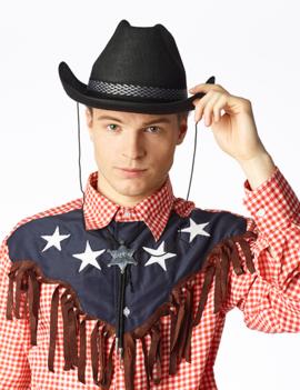 Cowboyhoed Zwart | Deluxe