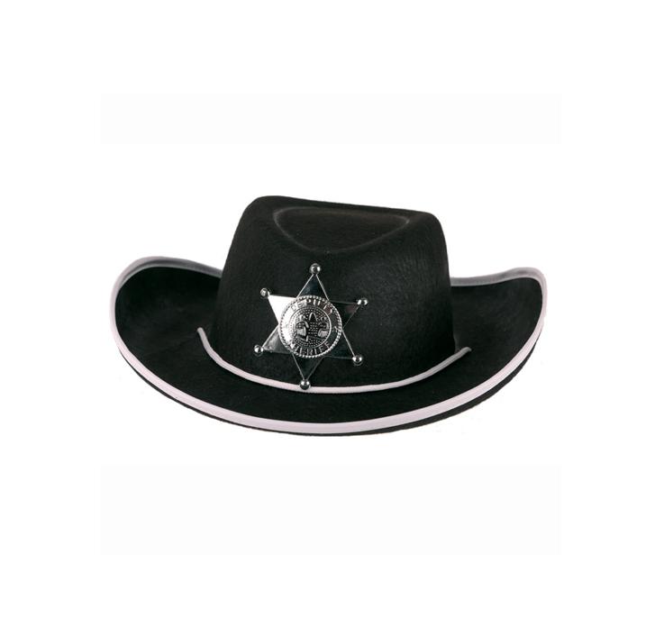Cowboyhoed Sheriff Zwart | + Ster