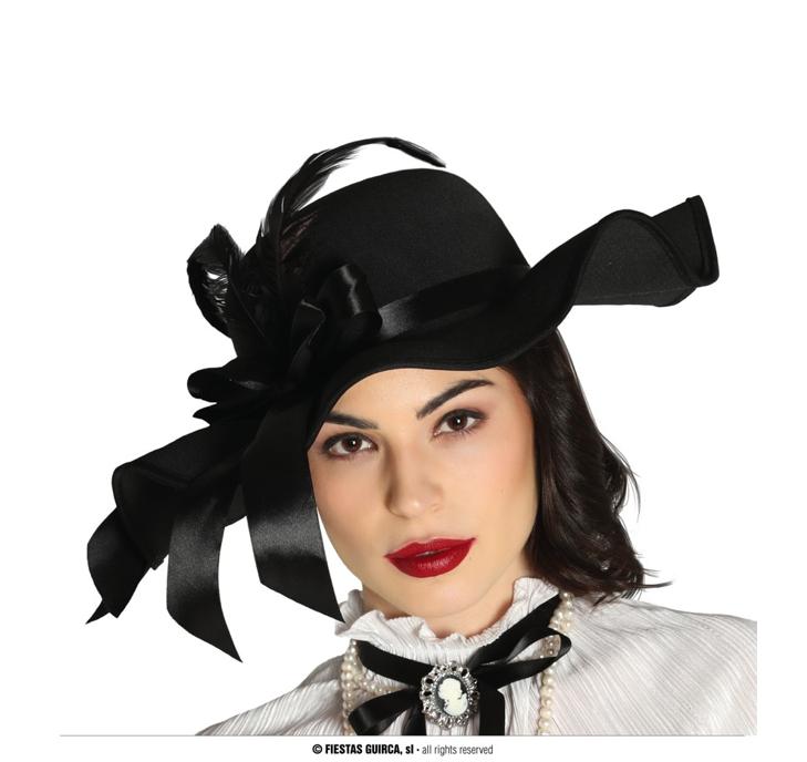 Black Pamela Hat | Chique Hoed