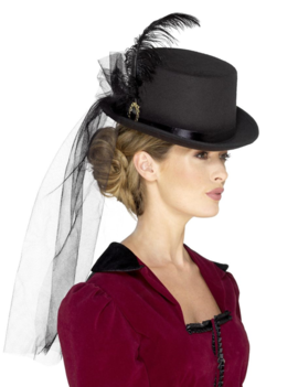 Deluxe Victorian Top Hat | Black