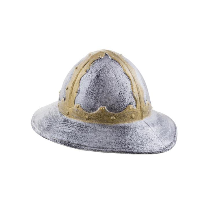 Schildknaap Helm Middeleeuwen   Zilver/Goud