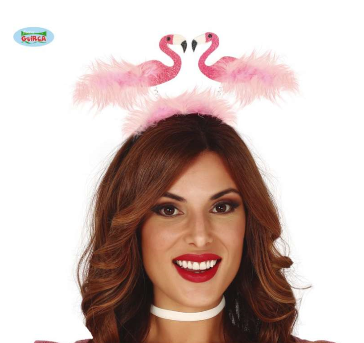 Diadeem Flamingo's | Glitter