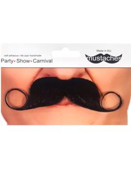 Zwarte Moustache | Snor Zwart