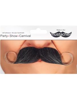 Grijze Moustache | Snor Grijs