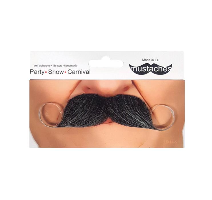 Grijze Moustache   Snor Grijs