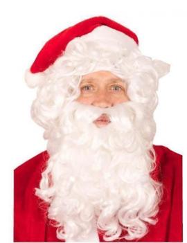 Kerstman Baard & Pruik | Wit