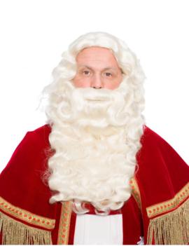 Luxe Sinterklaas Baard & Pruik | Wit