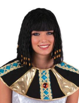 Cleopatra Pruik Zwart | Kort