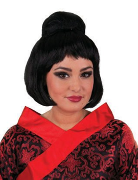 Chinese Geisha Pruik | Dot Zwart
