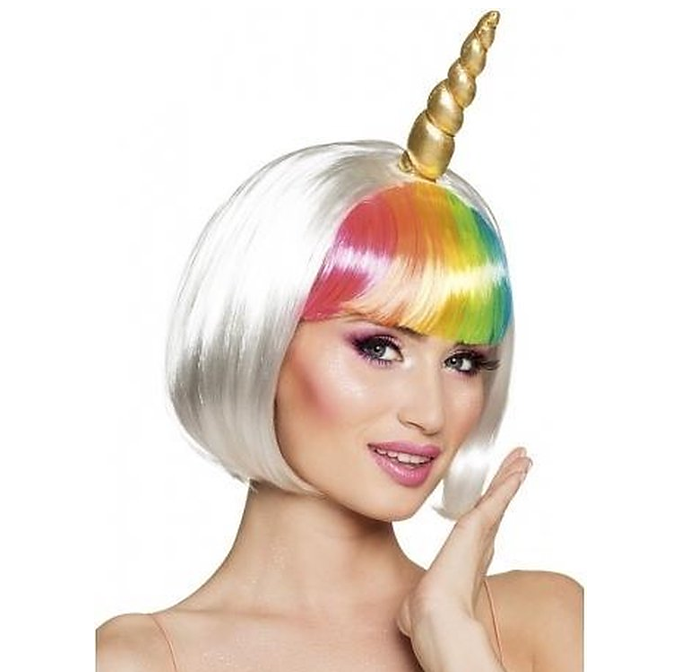 Unicorn Pruik Multicolor | Eenhoorn Wit