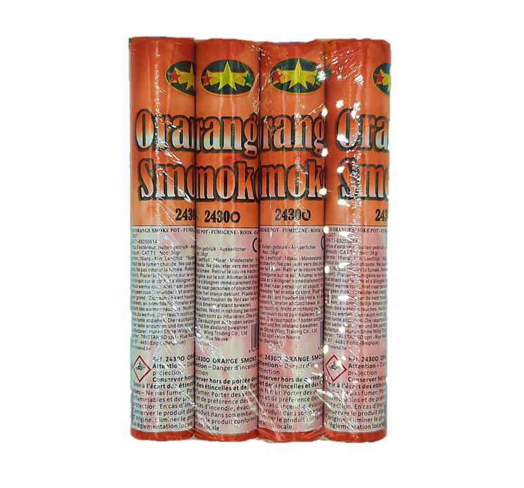 Rookbommen | Rookstaaf 4 Stuks / Oranje