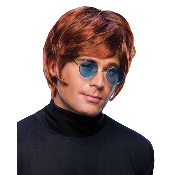 Pruik Elton John | Bruin/ Ros