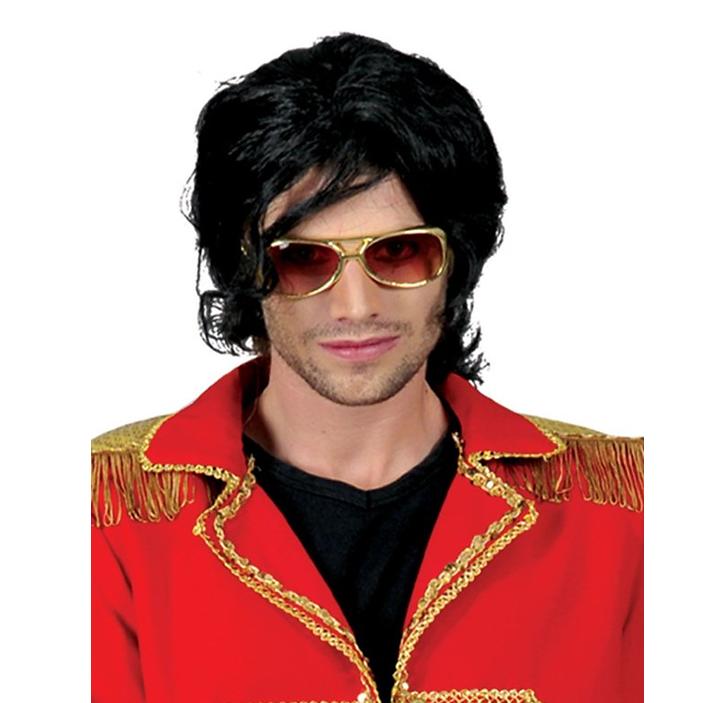 Pruik Michael Jackson | Zwart