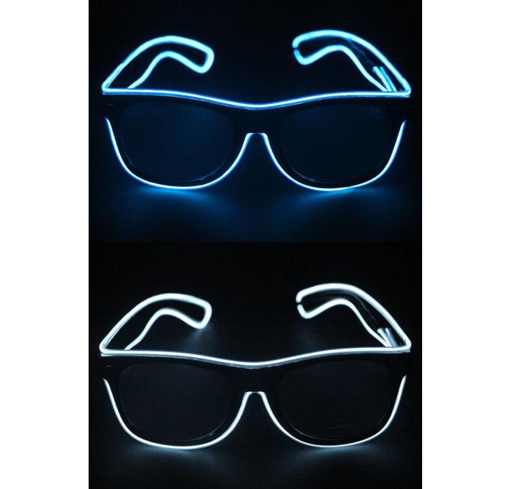 LED Bril Blauw | Wit | Lichtgevende Bril