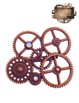 Broche Steampunk | Diamantjes