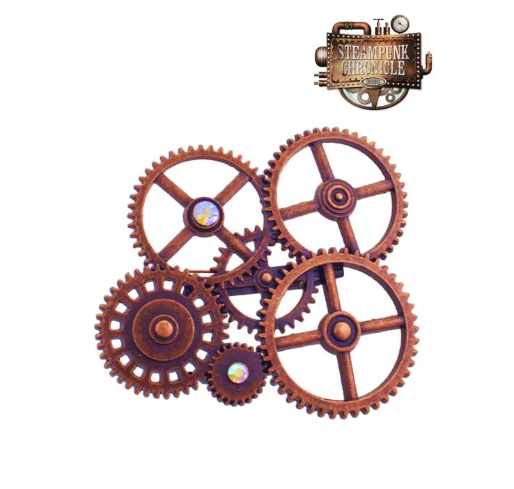 Broche Steampunk | Diamantjes